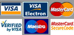 Visa, Mastercard, Visa Electron and Maestro welcomed